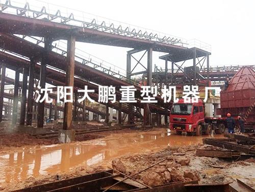 江苏某大型砂石骨料生产线安装中 小时处理量3000吨